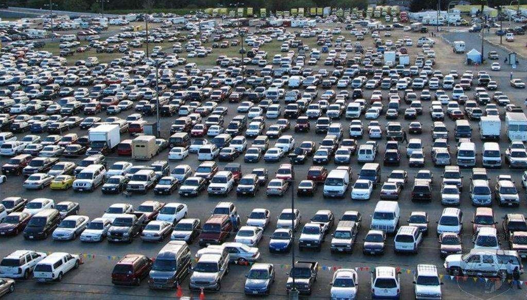 Il parcheggio dell'Iper Coop